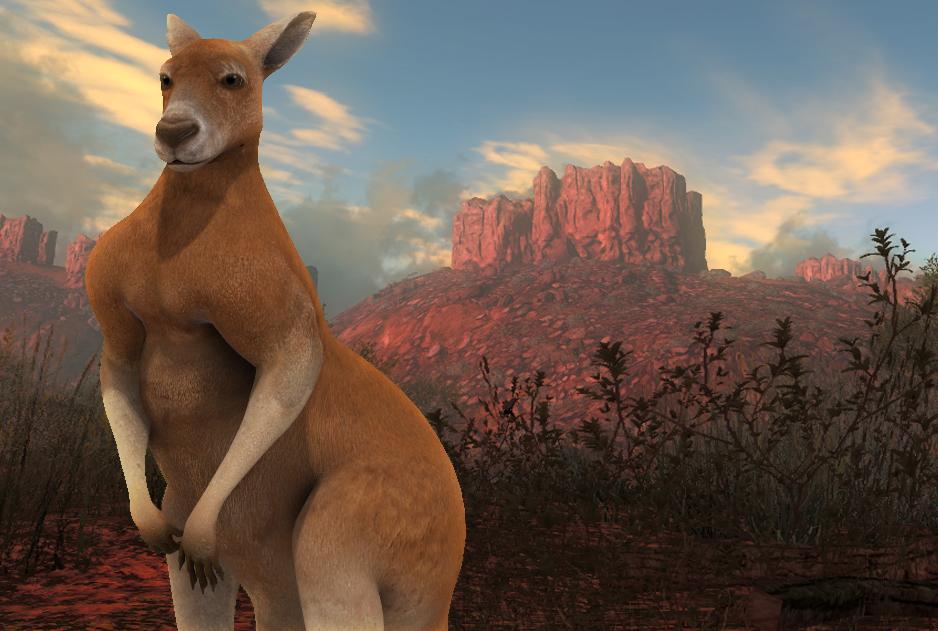 Большой рыжий кенгуру в theHunter