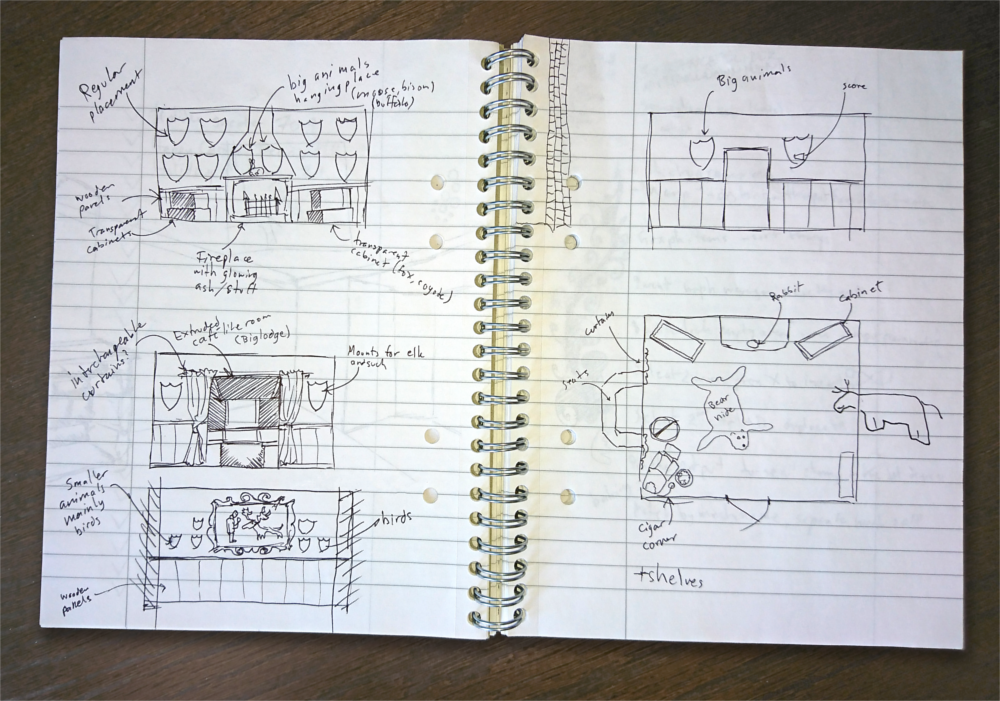 Trophy Lodge - First sketches